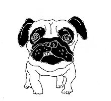 pug sketch Photographic Print