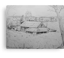 Wool shed , Spring plains , Mia Mia  Canvas Print