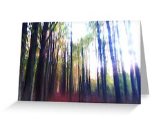 Beaming the Forest Up Greeting Card