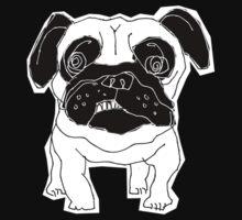 pug sketch One Piece - Short Sleeve