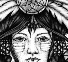 american indian girl Sticker