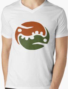 Zippleback Emblem Concept Tee Mens V-Neck T-Shirt
