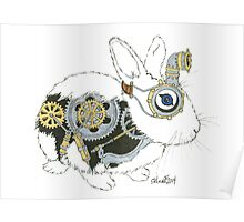 Daily Doodle 33 - Robot - Steampunk Bunny -Elvis Poster