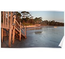scenic evening view Pittwater Poster