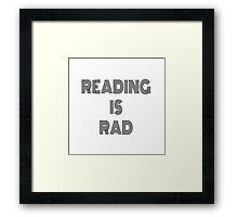 reading is rad Framed Print
