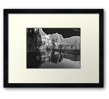 Yosemite Falls Reflection Framed Print