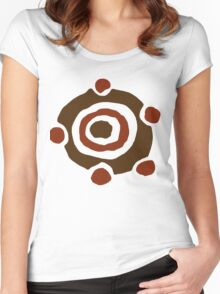 Colored Gronkle Emblem Women's Fitted Scoop T-Shirt