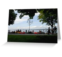 Beanbags by the lake Greeting Card