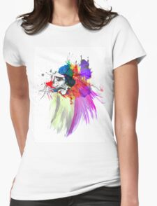 Sad Face Womens Fitted T-Shirt