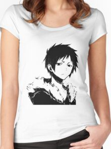 Izaya black and white Women's Fitted Scoop T-Shirt