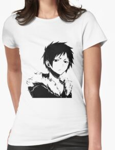 Izaya black and white Womens Fitted T-Shirt