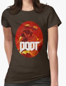 Doot Toot (Doom Shirt) Style #3 Womens Fitted T-Shirt