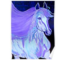 The White Pony Abstract Poster