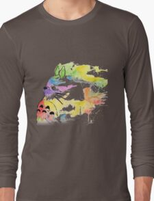 rainbow painting totoro Long Sleeve T-Shirt