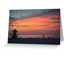 Lone Watch - Clearwater Beach, FL Greeting Card