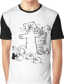 calvin and hobbes b N w Graphic T-Shirt