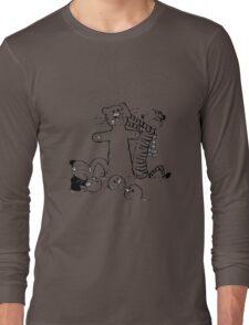 calvin and hobbes b N w Long Sleeve T-Shirt