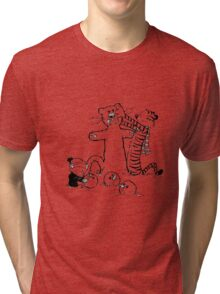 calvin and hobbes b N w Tri-blend T-Shirt