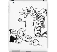 calvin and hobbes b N w iPad Case/Skin