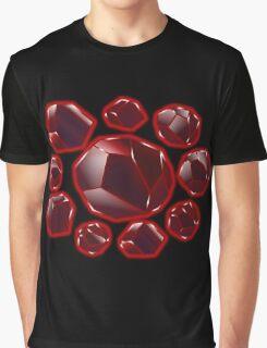Stronger Than You - Garnet Grid Graphic T-Shirt