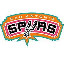 SA spurs logo Photographic Print