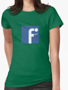 F-posture: take your eyes off your smartphone Womens Fitted T-Shirt