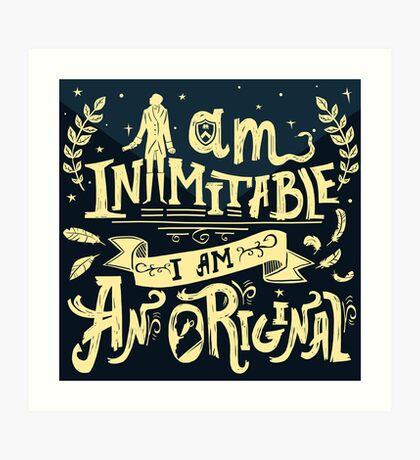 Inimitable Art Print