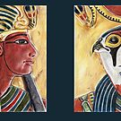Seti and Ra-Horakhty diptych by Aakheperure