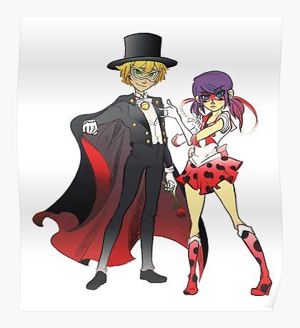 Sailor Lady x Tuxedo Noir  Poster
