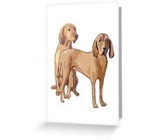 Redbone Coonhounds Greeting Card