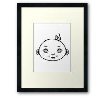 Baby sweet love comic Framed Print