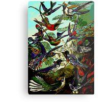Beautiful Abstract Humming Birds  Metal Print