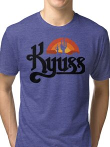 KYUSS BLACK WIDOW STONER ROCK QUEENS OF THE STONE AGE CLUTCH  Tri-blend T-Shirt