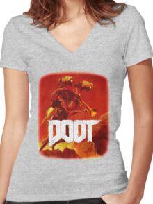 Doom Doot Shirt 2 Women's Fitted V-Neck T-Shirt
