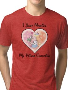 Just Married My Prince Charming Tri-blend T-Shirt