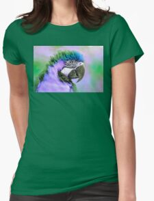 Parrot purple Womens Fitted T-Shirt