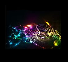 Music Notes in Color for Music-lovers phone case by Val  Brackenridge