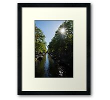 Amsterdam Spring - Green, Sunny and Beautiful Framed Print