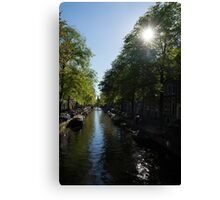 Amsterdam Spring - Green, Sunny and Beautiful Canvas Print