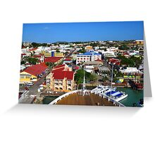 Bow to Antigua Greeting Card