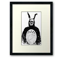 Donnie Darko Totoro Mash Up Framed Print