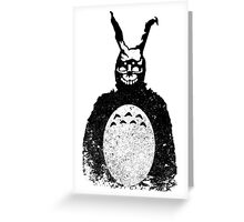Donnie Darko Totoro Mash Up Greeting Card