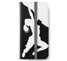 girl bouldering iPhone Wallet/Case/Skin
