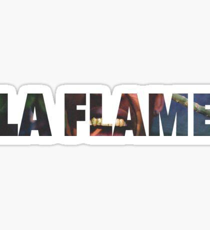 Travi$ Scott - La Flame Writing Sticker