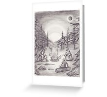 A Distant Flame Before the Sun Greeting Card