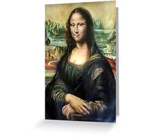 Monna Lisa after Leonardo da Vinci Greeting Card
