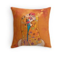 """The """"about to"""" Kiss Throw Pillow"""