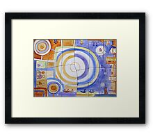 Puzzle Painting Day and Night Framed Print