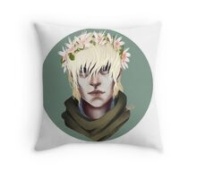 Flower Crown Cole Throw Pillow