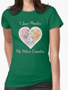 Just Married My Prince Charming Womens Fitted T-Shirt